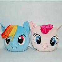 Boneka Bantal Little Pony Pink & Blue 29cm - Biru