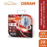 LAMPU DEPAN MOBIL H4 HI/LO 60/55W OSRAM NBR LASER NEXT GENERATION
