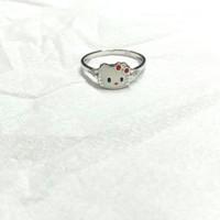 cincin emas putih anak hello kitty