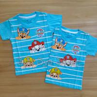 Baju Atasan Kaos Anak Laki Laki Cowok Paw Patrol Biru