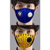 Masker Kain Scuba 2 Lapis Bahan Tebal+Respirator/Masker Anti Polusi