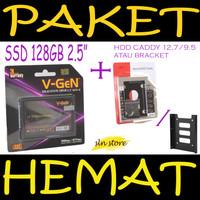 PAKET HEMAT SSD 120GB V-GeN + HDD Caddy 9,5 mm /12,7 mm DVD - HDD Vgen