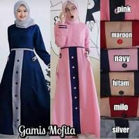 Baju Muslim Syar'i Gamis adiba Dress Mofita