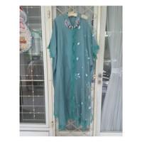 Baju Maxi Dress Kaftan Biru Hijau Tosca Payet | LUIRE by Raden Sirait