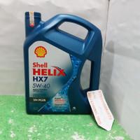 Oli Shell Helix Biru HX7 10W-40 Galon 4 Liter API SN, ACEA A3/B4