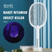 Raket Nyamuk Canggih Efektif 2in1 Insect Killer Wireless Cas AOKI 881S
