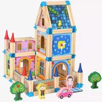building blocks montessori toy mainan edukasi 128 pieces kado anak