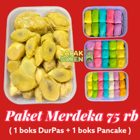 Pancake Durian Mini isi 21 & Duren Kupas