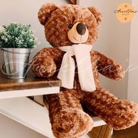Boneka Teddy Bear (Beruang) Jumbo 80 CM Brown Termurah