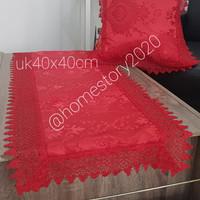 sarung bantal kursi katun renda uk 40x40 cm - sarung bantal sofa r3