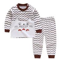 baju tidur anak import garis coklat