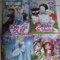 Buku cerita bergambar 3D karakter anak perempuan