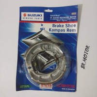 kampas rem brake shoe pirodo belakang nex lets address original suzuki
