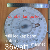 module refill led lampu baret plafon 36w 36watt 36 watt 36 w tl ring