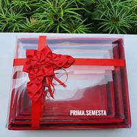 Kotak Seserahan / Sangjit Pernikahan Isi 4 Mika Sedang (KHUSUS GOJEK) - Merah