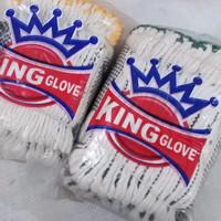Sarung tangan kain bintik tebal King glove --12 pasang
