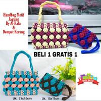 BELI 1 GRATIS 1/ Handbag Tali Kur Motif Jagung By Al-Kafa / Tas Dompet