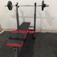 Bench Press Mini Home Gym Fitness Adjustable Bench Dip Bangku Gym