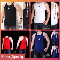 Kaos Singlet Olahraga Pria Underarmour baju tanktop Sport Gym Fitness