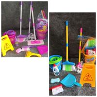 Mainan anak little helper cleaning set sapu pel komplit