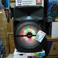 Speaker Bluetooth Portable 15 inch Asatron-Machester 2 mic wireless