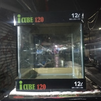 Aquarium iCube Kandila Kaca Bending