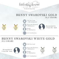 littlethingshewear bunny swarovski series earring/ anting anak ASLI