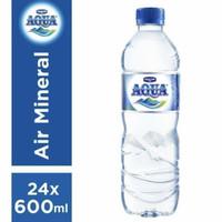 Aqua air mineral 600ml x 24botol