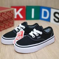 Sepatu anak casual VANS AUTHENTIC KIDS / TALI / BLACK WHITE