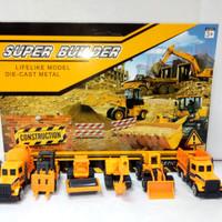Construction play set / die cast construction / mainan anak laki laki