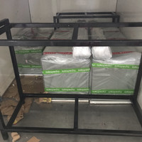 Paket 2 unit aquarium 100x50x50 8 mili dan rak