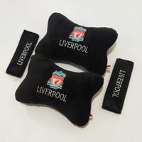 set bantal jok mobil spesial Liverpool hitam eksklusif