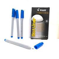 pilot ball liner 0.8 mm pen pena pulpen smooth writing biru