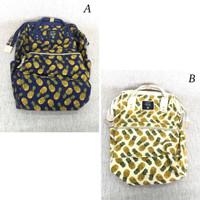Backpack Tas ransel Kanvas wanita Anello premium canvass
