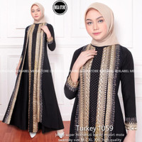 NEW TURKEY 1059 GAMIS LONGDRESS KONDANGAN PESTA ABAYA WANITA MODERN