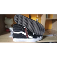 sepatu vans high sk8 tinggi full hitam hitam putih termuarah terlaris