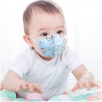 Masker Kain Scuba Anak-Anak 1-3 Tahun Motif Gambar 3 Ply Premium
