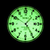 Soki - Full Lume Dial !! Field Watch - Glow In The dark - Seiko 5 SNZG