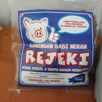 Gorengan babi merah - rejeki - bali - kerupuk