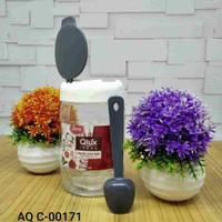 Peralatan dapur cantik toples kaca tempat bumbu 370 cc AQC 00171