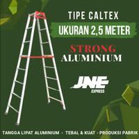 Tangga Lipat Aluminium 2,5 Meter - Tipe Caltex // Merk Strong