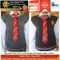 Rompi Vest Rajut Logo Bordir Kostum Cosplay Harry Potter New Design
