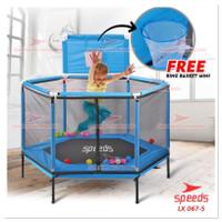 Khusus Gosend Trampoline trampolin Anak +Keranjang Basket LX067-5 ORI