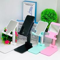 Folding Desktop Phone Stand Holder Handphone Tablet Docking Handphone - BLACK