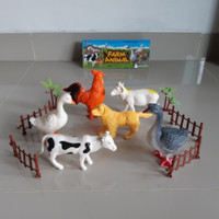 Mainan Set Hewan Ternak Besar - Binatang Unggas Farm Animal Anak Jumbo