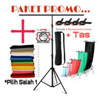 Paket Promo Background Stand 1 Bar Backdrop Photography Tiang Foto Set
