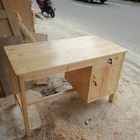 meja kantor / belajar bahan jati Belanda ukuran 120x60x75