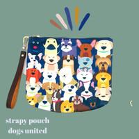 pouch/pouchy bag. pouch kanvas motif print lucu dan tas sling bag