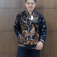 Jaket pria motif ayam by batik alfatih solo
