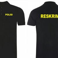 T Shirt oblong kaos polisi reskrim size s m l xl xxl 3xl 4xl murah